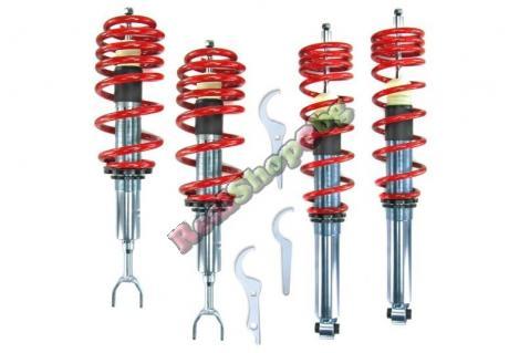 Спортно / Регулируемо окачване за Audi A4 B5 (1995-2001) - Червени пружини - ( COILOVERS )