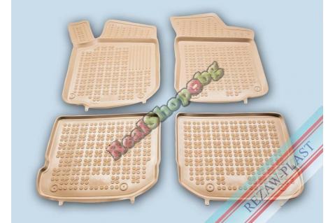 Гумени стелки Rezaw-Plast за Seat Toledo (1999-2004) - тип леген - Бежови