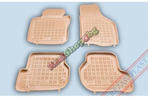 Гумени стелки Rezaw-Plast за Seat Leon (2004-2012) - тип леген - Бежови